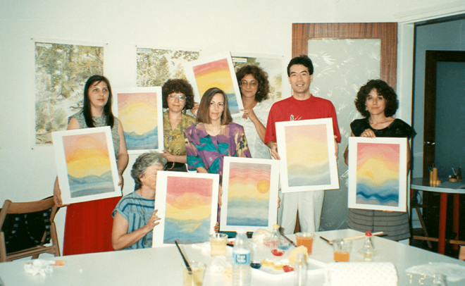 1990 Piscologia del color con Angela Wilfart